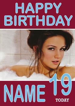 Personalised Michelle KE Designegan Birthday Card