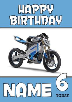 Personalised Yamaha Bike 3 Birthday Card