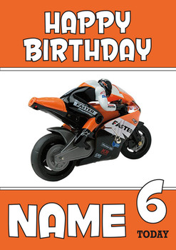 Personalised Rc Bike Birthday Card
