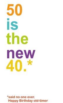 Personalised 50 Is The New 40 Birthday Card