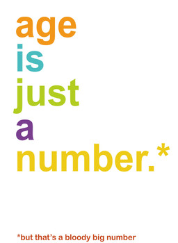 Personalised Age Is Just A Number Birthday Card