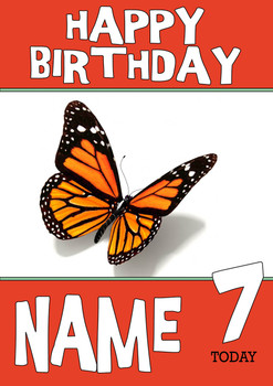 Personalised Butterfly Birthday Card 3