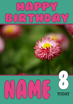 Personalised Daisy Birthday Card