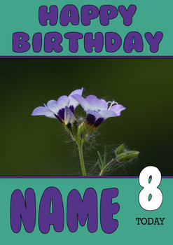 Personalised Flower Birthday Card