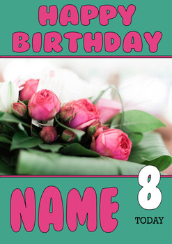 Personalised Roses Birthday Card