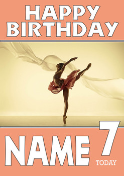 Personalised Ballet Birthday Card