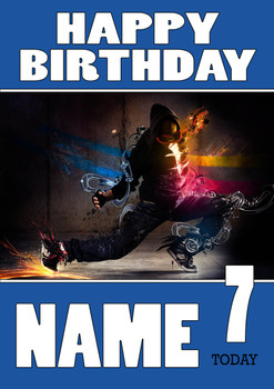 Personalised Breakdance Birthday Card