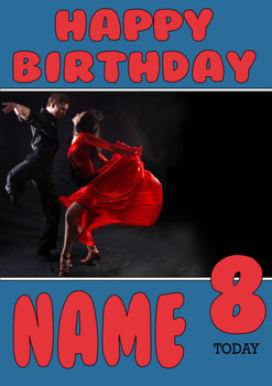 Personalised Dancer Birthday Card