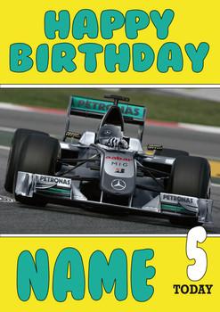 Personalised Mercedes Birthday Card 4