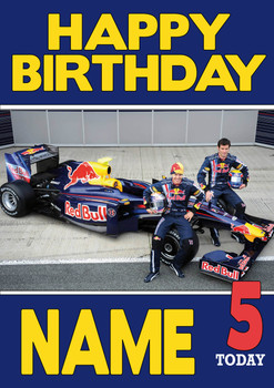 Personalised Red Bull Birthday Card