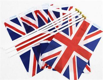 50 Union Jack Flags On Sticks