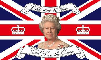 Queen Elizabeth Ll 90th Birthday Flag 5' X 3'