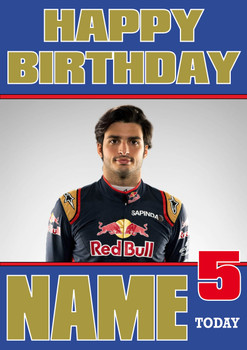 Personalised Carlos Sainz Birthday Card