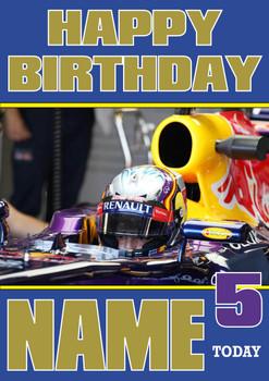 Personalised Carlos Sainz Birthday Card 2
