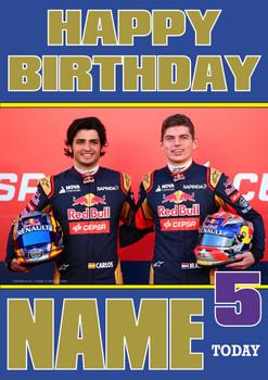 Personalised Carlos Sainz Birthday Card 3