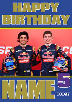 Personalised Carlos Sainz Birthday Card 3