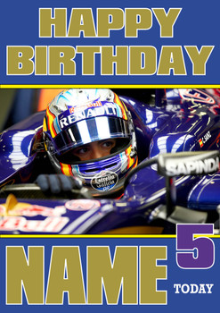 Personalised Carlos Sainz Birthday Card 4