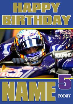 Personalised Carlos Sainz Birthday Card 4