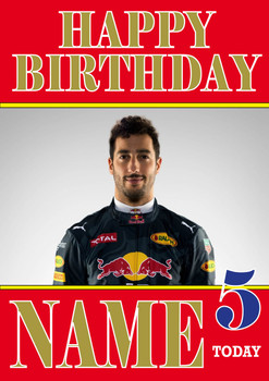 Personalised Daniel Ricciardo Birthday Card