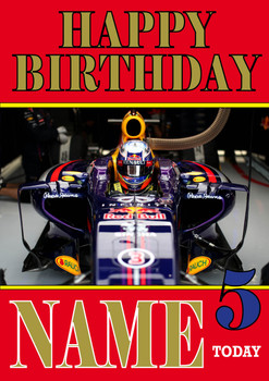 Personalised Daniel Ricciardo Birthday Card 2