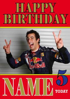 Personalised Daniel Ricciardo Birthday Card 3