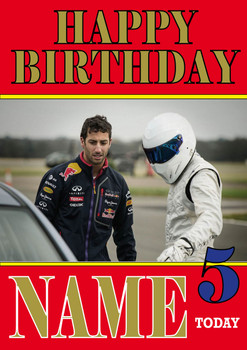 Personalised Daniel Ricciardo Birthday Card 4