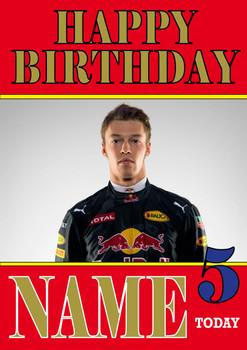 Personalised Daniil Kvyat Birthday Card