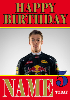 Personalised Daniil Kvyat Birthday Card