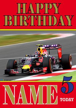 Personalised Daniil Kvyat Birthday Card 2
