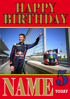 Personalised Daniil Kvyat Birthday Card 3