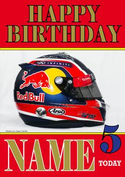 Personalised Daniil Kvyat Birthday Card 4
