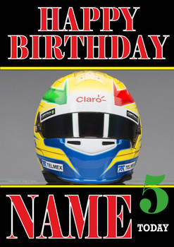 Personalised Esteban Gutierrez Birthday Card 3