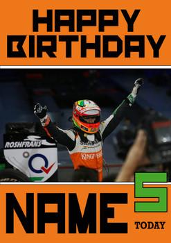 Personalised Sergio Perez Birthday Card 2