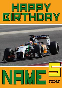 Personalised Sergio Perez Birthday Card 5