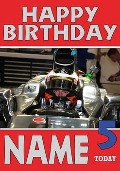 Personalised Stoffel Vandoorne Birthday Card 2