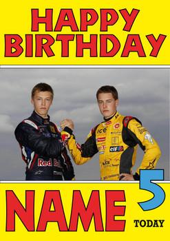 Personalised Stoffel Vandoorne Birthday Card 4