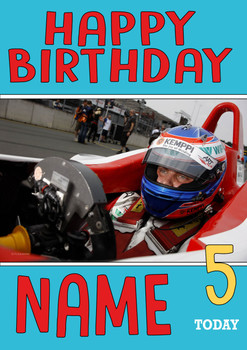 Personalised Valtteri Bottas Birthday Card 2