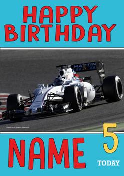 Personalised Valtteri Bottas Birthday Card 3