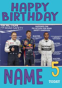 Personalised Valtteri Bottas Birthday Card 4