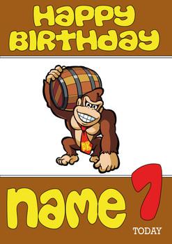 Retro Gaming Donkey Kong Personalised Card 2
