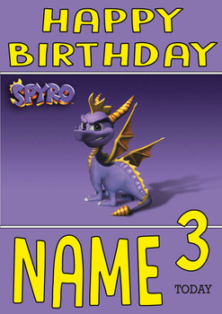Retro Gaming Spyro Personalised Card