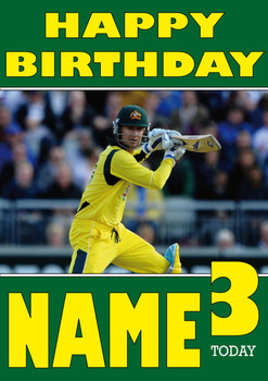 Australian Cricketer Personalised Card