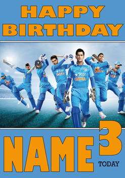 India Cricket Team 2 Personalised Card