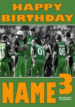 Ireland Cricket Team Personalised Card