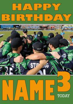 Ireland Cricket Team Huddle Personalised Card