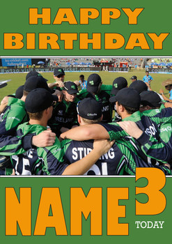 Ireland Cricket Team Huddle Personalised Card