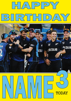 New Zealand Team Personalised Card