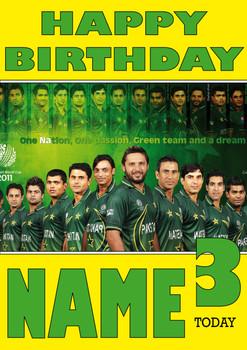 Pakistan Cricket Team Personalised Card