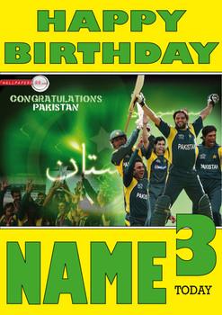 Pakistan Cricket Team 2 Personalised Card