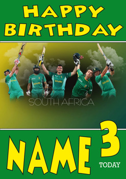 South Africa 2 Personalised Card